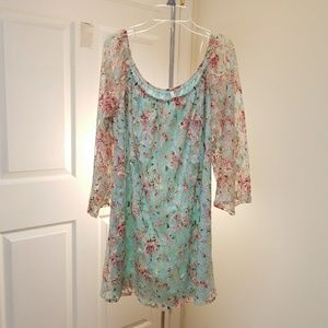 Sage Floral Lace Dress size Medium